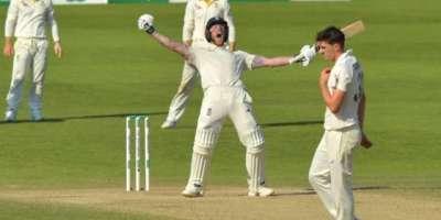 سٹوکس کی ناقابل شکست سنچری،انگلینڈ نے آسٹریلیا کو تیسرے ایشز ٹیسٹ ..