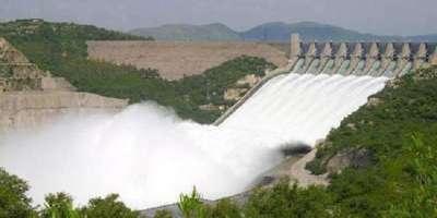 آبی ذخائر میں پانی کی آمد واخراج کے اعداد وشمار جاری