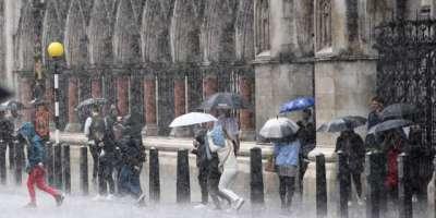 جرمنی میں گرج چمک کے ساتھ موسلا دھار بارش،معمولات زندگی متاثر