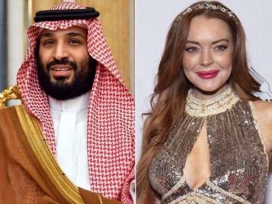 سعودی ولی عہد محمد بن سلمان اور امریکی اداکارہ کا معاشقہ، لنزے لوہان ..