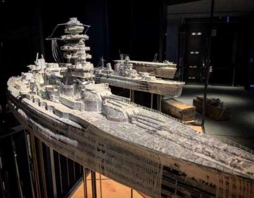 جاپانی آرٹسٹ  نے پرانے اخباروں سے  جنگی جہازوں  کے حیرت انگیز نمونے ..