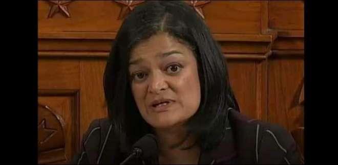 بھارتی خاتون نے مقبوضہ کشمیر میں جاری بھارتی مظالم کیخلاف  امریکی ایوان ..