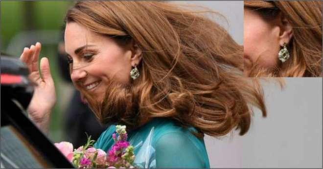 پاکستان آنے والی برطانوی شہزادی کیٹ کے کانوں میں پہنے 'بندوں' کا سوشل ..