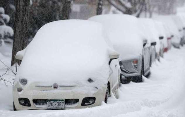 امریکہ میں برفباری کا شدید طوفان، نیویارک میں ریاستی ایمرجنسی نافذ، ..
