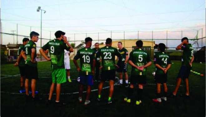 سوکا ورلڈ کپ، پاکستانی ٹیم نے دوستانہ میچ میں کولمبیا کی مضبوط ٹیم ..