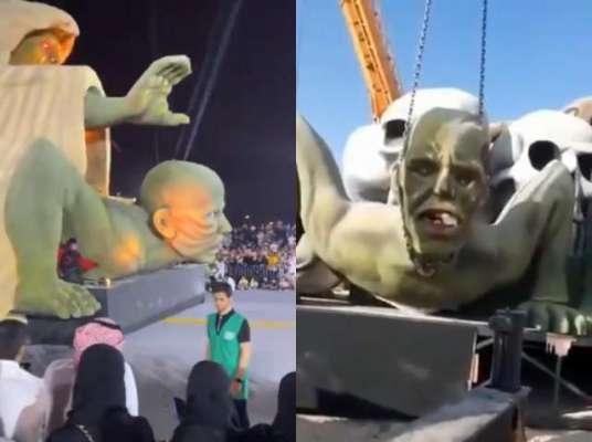 سعودی عرب کی شاہراہ پر سرِ عام شیطانی مجسموں کی نمائش ، عوام میں شدید ..