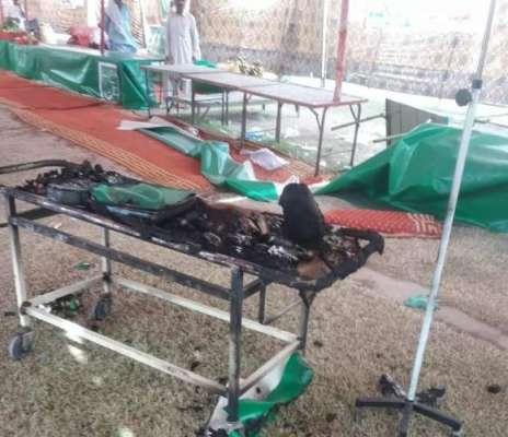 سستے رمضان بازار میں رات کو آندھی کی وجہ سے شا رٹ سرکٹ سے میڈیکل کیمپ ..