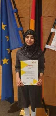 پاکستانی نژاد جرمن اسٹوڈنٹ کو اسکالرشپ کے لیے نامزد کیا گیا