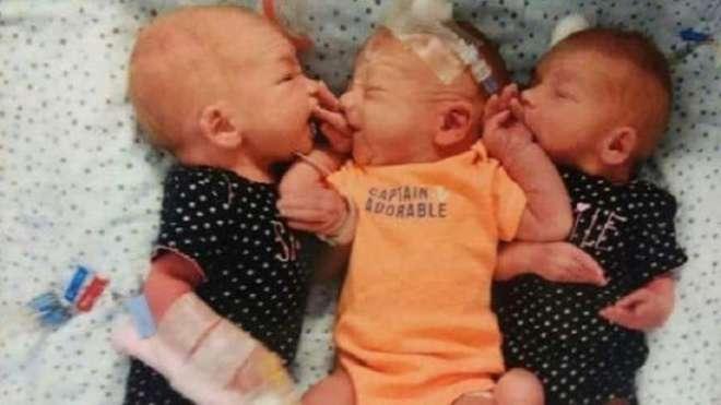 گردوں سے پتھری نکلوانے اسپتال گئی امریکی خاتون تین بچوں کی ماں بن گئیں