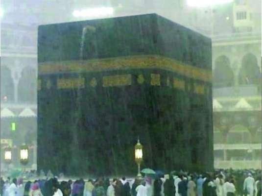 مکہ اور مدینہ سمیت سعودی عرب میں موسلا دھار بارش سے جھل تھل ایک ہوگیا
