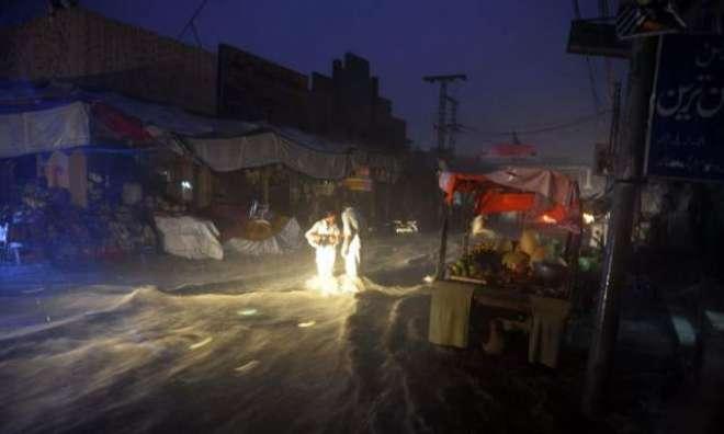 مختلف اضلاع میں موسلادھار بارشوں،ندی نالوں میں طغیانی کاالرٹ جاری