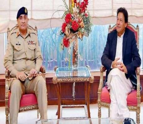 وزیراعظم عمران خان سے آرمی چیف کی ملاقات