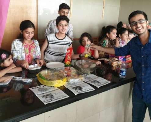 وز کڈز سمر کیمپ کے تحت بچوں کے بیک سیل فوڈ میلے کا انعقاد