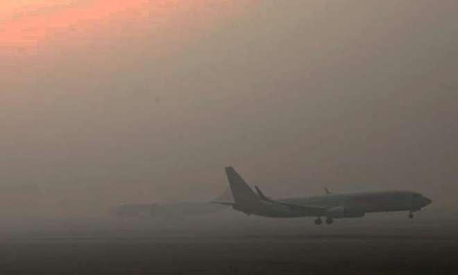 شدید دھند کے باعث اندرون وبیرون ممالک سے آنے والی 10پروازیں منسوخ ، ..