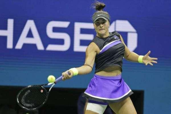 بیانکا اینڈرسکیو پہلی مرتبہ گرینڈ سلام یو ایس اوپن ٹینس ٹورنامنٹ ویمنز ..