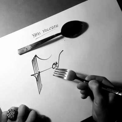 چاقو، چمچ اور کانٹے سے حیرت انگیز فن پارے بنانے والا انوکھا فنکار
