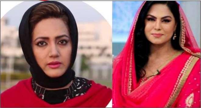 وینا ملک نے مریم نواز کے بعد عاصمہ شیرازی کے خلاف محاذ تیار کر لیا