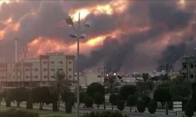 سعودی تنصیبات پر ڈرون حملوں کے نتیجے میں ضائع ہونے والے تیل کا ایک تہائی ..