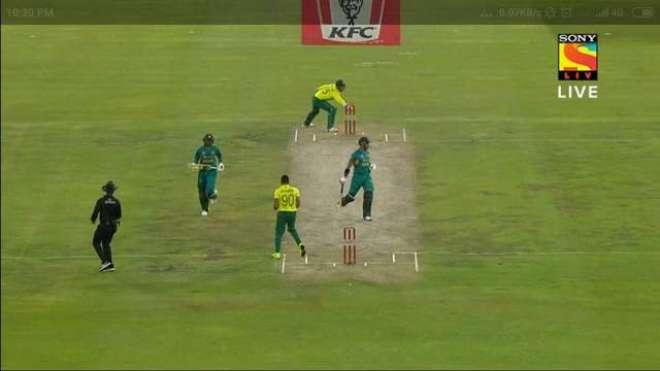 پاکستان اور جنوبی افریقہ کے مابین کھیلے گئے تیسرے ٹی ٹونٹی کے دوران ..