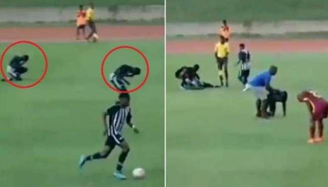 ویسٹ انڈیز میں فٹبال میچ کے دوران آسمانی بجلی گرنے سے 2 کھلاڑی شدید ..