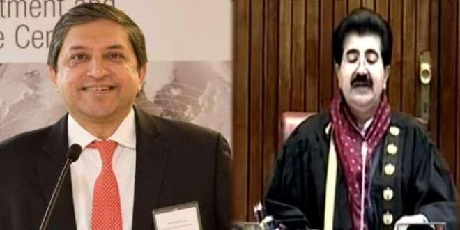 چیئرمین سینیٹ محمد صادق سنجرانی کا ڈپٹی چیئرمین سینیٹ سینیٹر سلیم ..