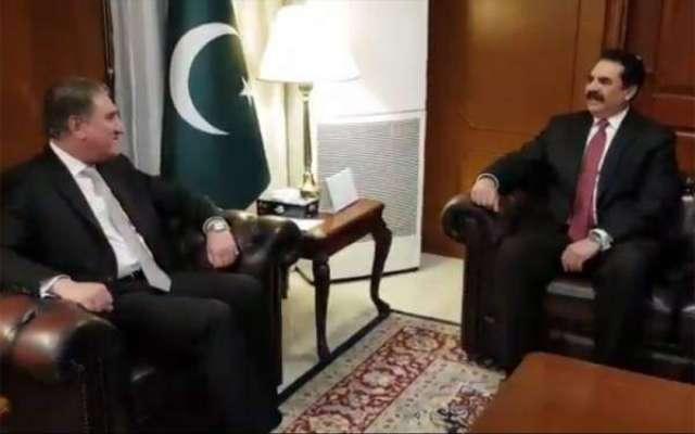 جنرل راحیل شریف کی شاہ محمود قریشی سے ملاقات ، علاقائی امن واستحکام ..