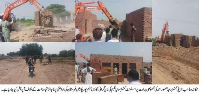 ننکانہ صاحب: نواحی گاؤں سلیم پور پکا میں قبرستان کی سرکاری اراضی پر ..