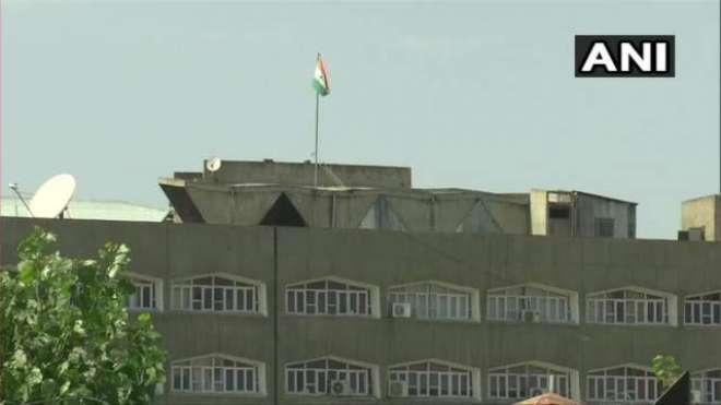 سری نگر سیکرٹریٹ کی عمارت سے کشمیر کا جھنڈا ہٹا دیا گیا