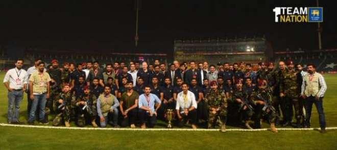 سری لنکن ٹیم کی سکیورٹی اہلکاروں کو خراج تحسین