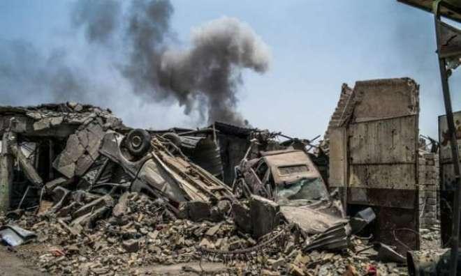 موصل میں امریکی طیاروں نے داعش کے ٹھکانے تباہ کردیئے