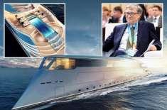 دنیا کے امیر ترین شخص بل گیٹس مہنگی ترین کشتی کے پہلے خریدار بن گئے