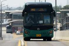 پشاور بی آر ٹی بس سروس مزید ایک ماہ بند رہے گی