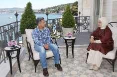 بالی ووڈ سپر اسٹار عامر خان کی ترک خاتون اول سے ملاقات