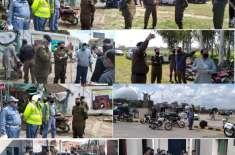 قرنطینہ سنٹر ٹالیانوالہ میں پولیس کی ماک ایکسرسائز ،ڈسٹرکٹ پولیس آفیسر ..