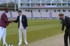 انگلینڈ ویسٹ انڈیز ٹیسٹ ، ٹاس کے بعد کپتانوں نے غلطی سے ہاتھ ملا لیا