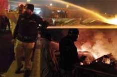 کراچی کی کچی آبادی میں آگ بھڑک اٹھی، 100 سے زائد جھونپڑیاں جل کر خاکستر ..