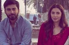 فواد اور ماہرہ خان کی رومانٹک فلم ''نیلوفر'' کی شوٹنگ مکمل کر لی ..