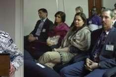 لیڈرشپ اور سیکیورٹی کے موضوع پر جاری بین الاقوامی ورکشاپ کے شرکاء کا ..