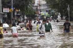 انڈونیشیا،بارش اور سیلاب سے متعدد علاقے زیر آب، بجلی کا نظام درہم ..