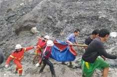 میانمارمیں لینڈ سلائیڈنگ سے ہلاک افراد کی تعداد 160 سے تجاوز کر گئی