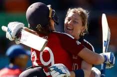 انگلینڈ نے آئی سی سی ویمنز ٹی 20 ورلڈ کپ میں پہلی فتح کا مزہ چکھ لیا،