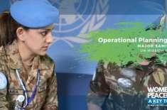 اقوام متحدہ امن فوج کا حصہ پاک فوج کی باہمت میجر سامعہ کورونا سے لڑنے ..