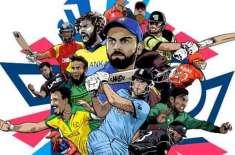 ٹی ٹوئنٹی ورلڈ کپ کے رنگا رنگ خاکے میں پاکستان کے کرکٹرزکو شامل نہ کرنے ..