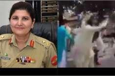 پاکستان کی پہلی خاتون لیفٹیننٹ جنرل نگار جوہر کی آمد پر لوگوں کا ڈھول ..