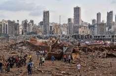 بیروت دھماکوں میں 135 ہلاکتیں، زخمیوں کی تعداد 5 ہزار تک پہنچ گئی