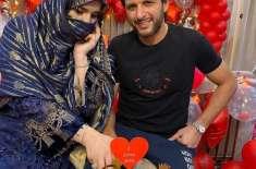 شاہد آفریدی کی شادی کی 20سال مکمل ہوگئے