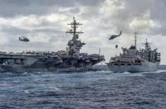 امریکا ایران پھر سے کشیدگی کے دہانے پر، امریکی بحریہ کا بحیرہ عرب میں ..