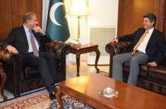 فروغ نسیم کی وزیر خارجہ شاہ محمودسے ملاقات ،