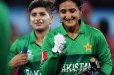 آئی سی سی ویمنز ٹی ٹونٹی ورلڈکپ : پاکستان نے ویسٹ انڈیز کو8 وکٹوں شکست ..