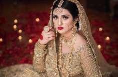 سارہ خان کا نیا برائیڈل فوٹو شوٹ جاری